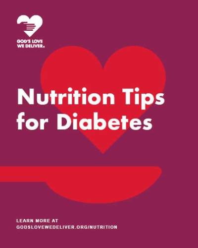 Nutrition Tips for Diabets booklet cover