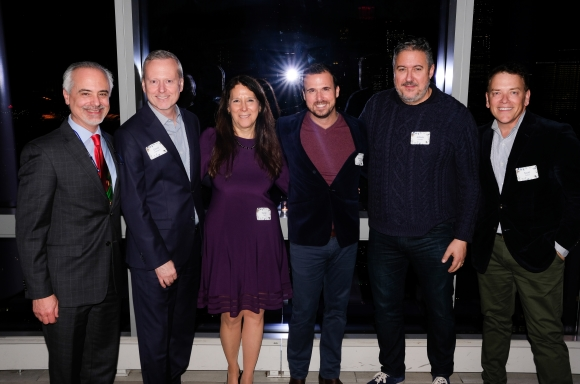 Mike Tuccillo, David Ludwigson, Karen Pearl, Terrence Meck, Alfredo Paredes & Scott Durkin at the Volunteer Leadership Holiday Party 2019