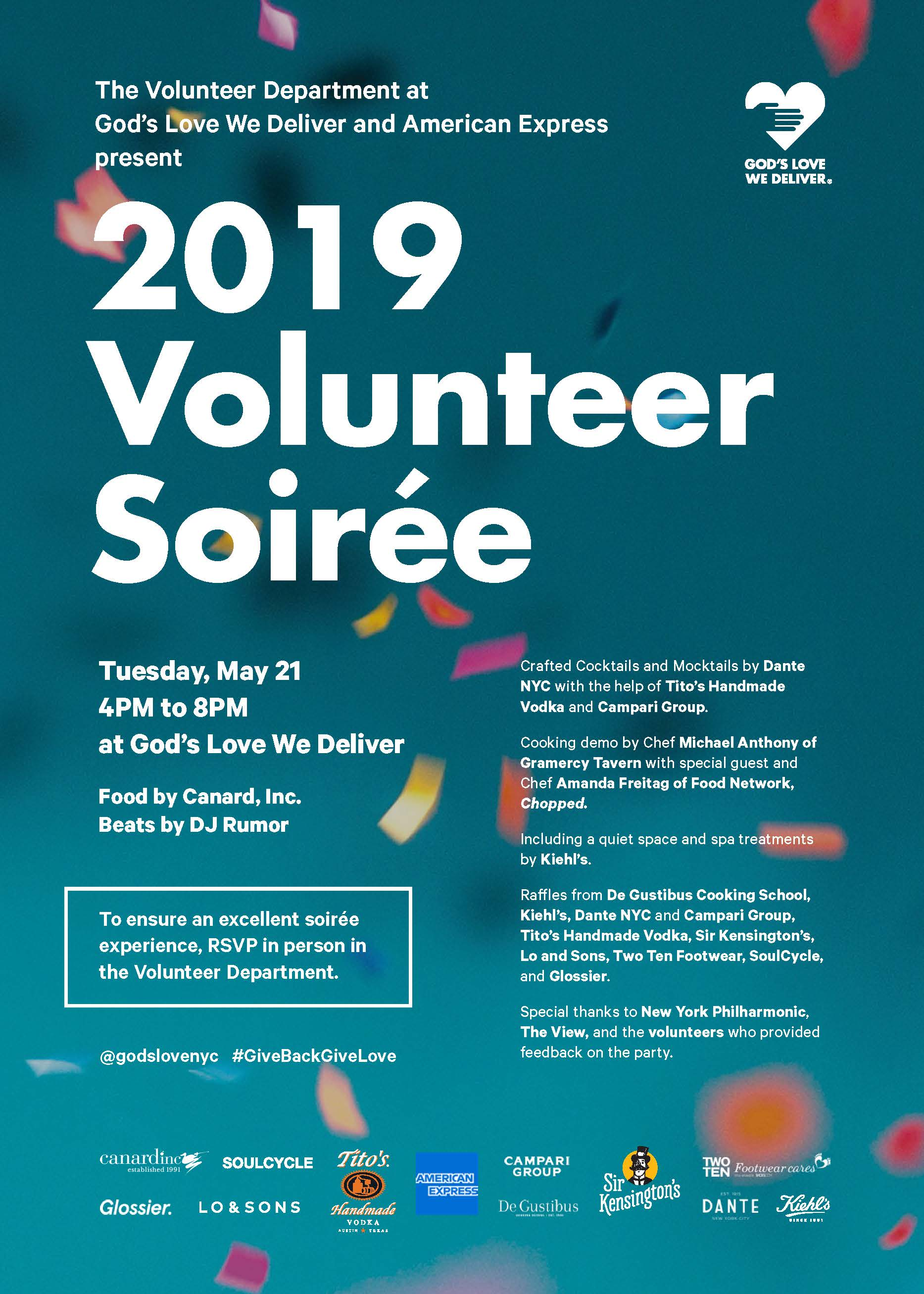 Volunteer Soiree invite