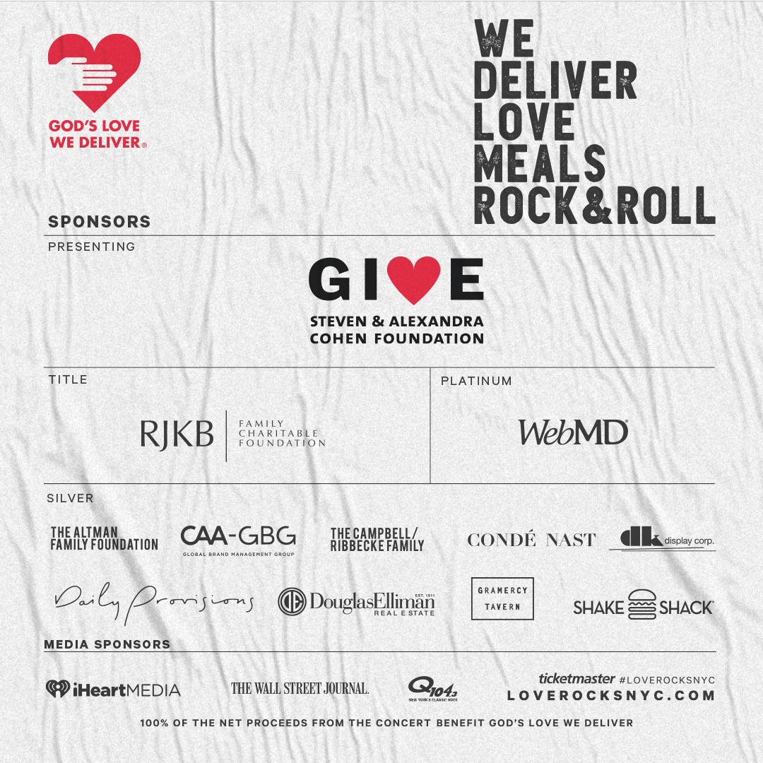 Love Rocks NYC 2020 Sponsors