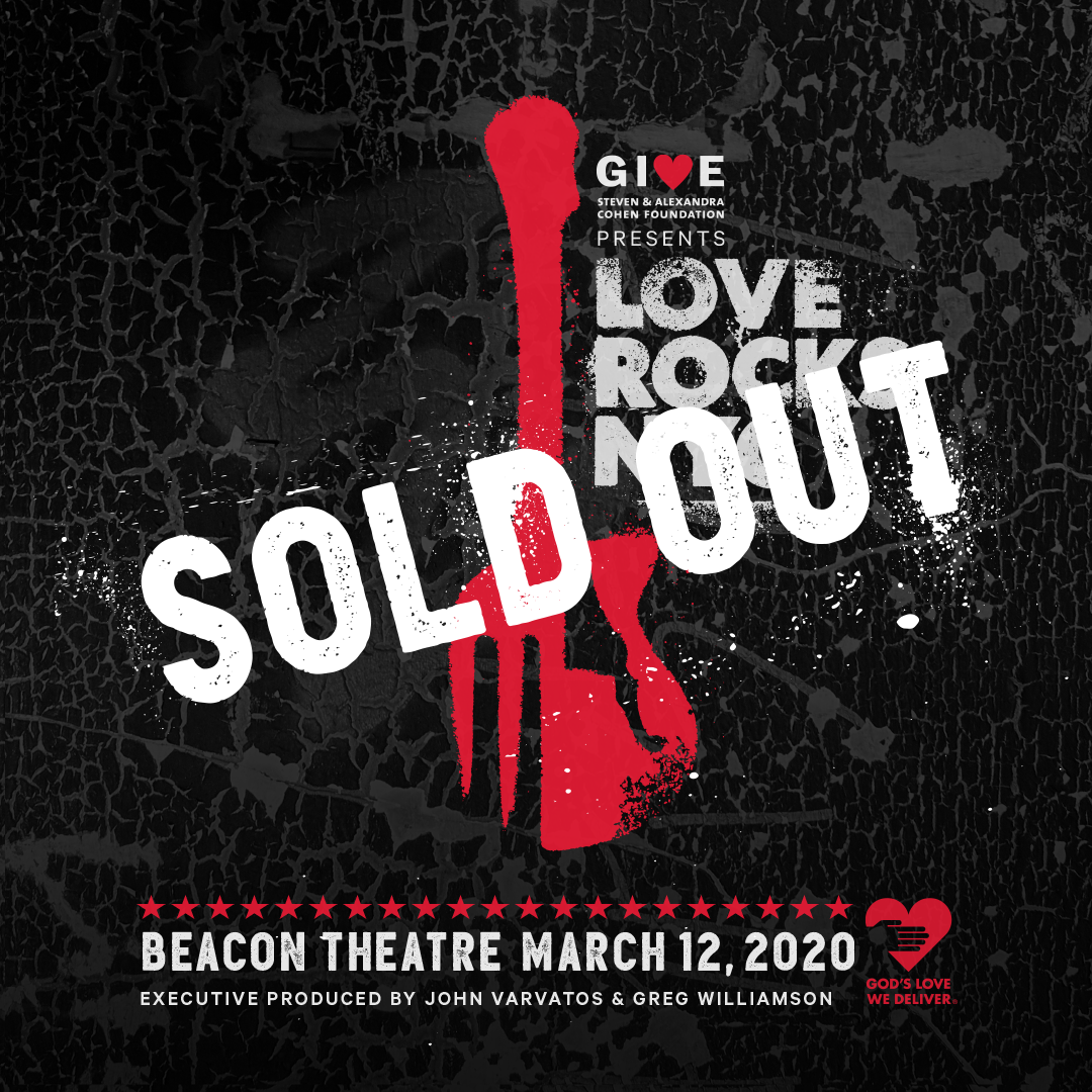Love Rocks NYC Sold Out at the Beacon Theatre. March 12, 2020