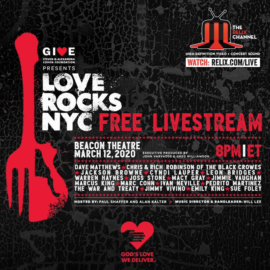 Love Rocks NYC Livestream at the Beacon Theatre. March 12, 2020