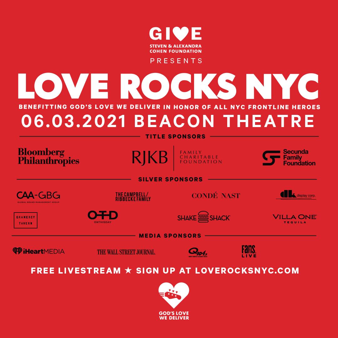 Sponsors for Love Rocks NYC 2021
