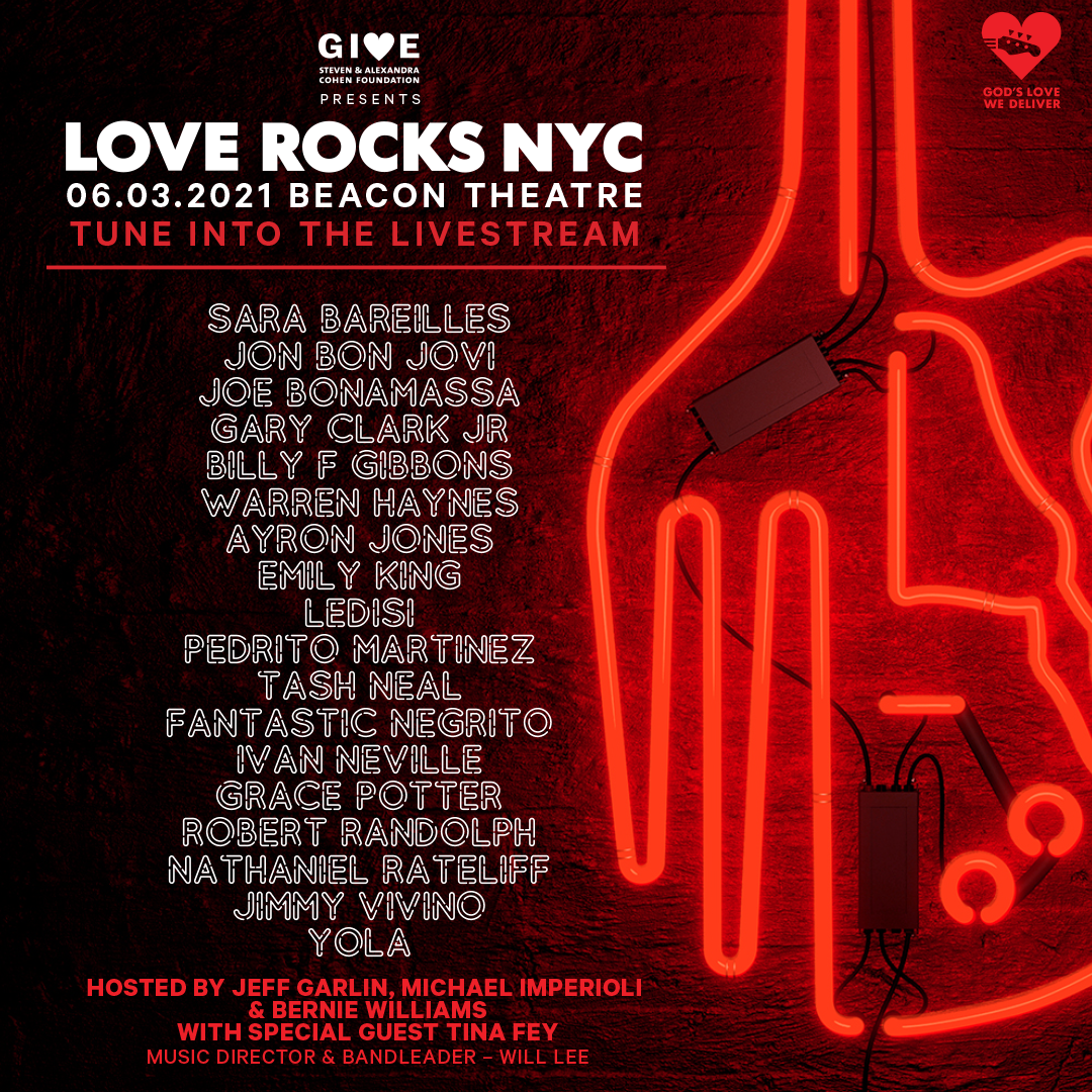 Artist lineup for 2021 Love Rocks NYC benefit concert